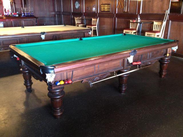 5 X 10 Golden West Highlander 6 Leg Snooker Table Installed In A Commercial Room The Highlander Is Also Available Billiard Tables Snooker Table Billiards