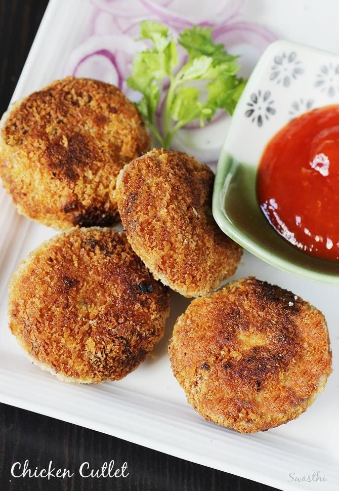 Chicken cutlet recipe with step by step photos. Delicious crunchy chicken tikki made with simple ingredients, a good snack or a starter