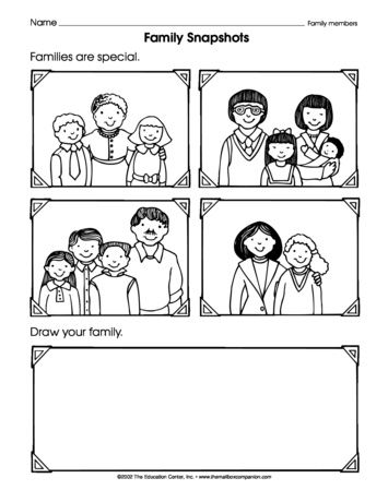 Family Snapshots Lesson Plans The Mailbox Kindergarten Worksheets Family Worksheet Family Snapshots Family worksheet for kindergarten pdf