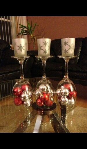 simpele kaarsenstandaard christmas decorations pinterest rh pinterest com
