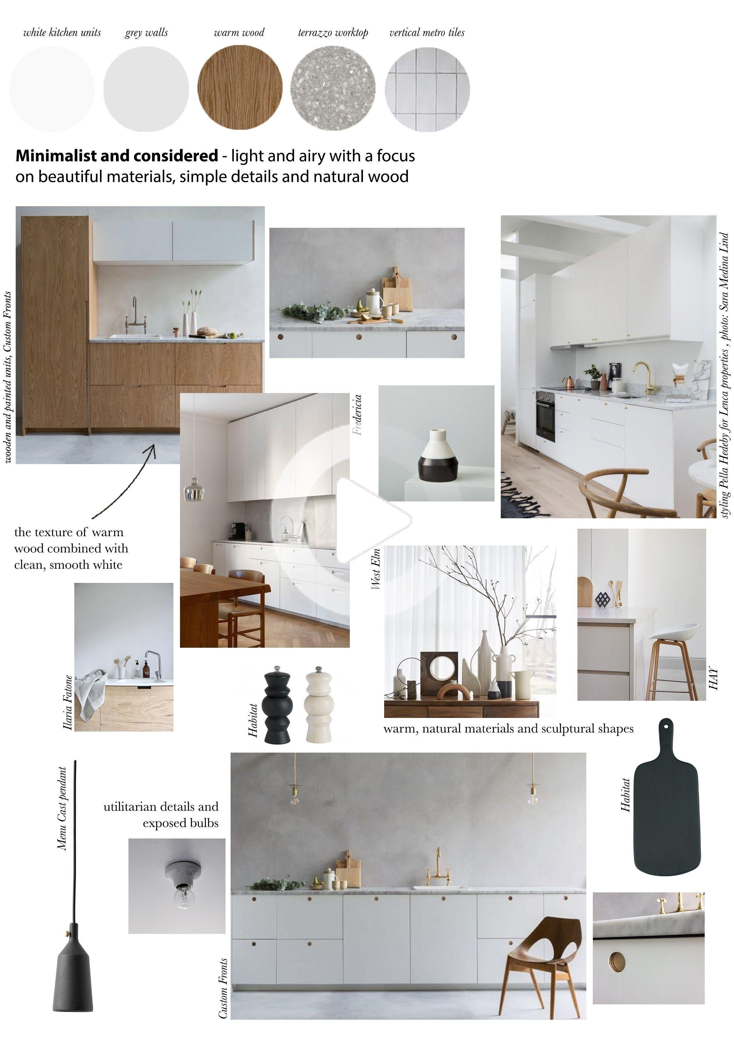 A compact maisonette in south London is transformed into a light-filled, minimalist kitchen and open-plan living space with monochrome touches #kitcheninspiration