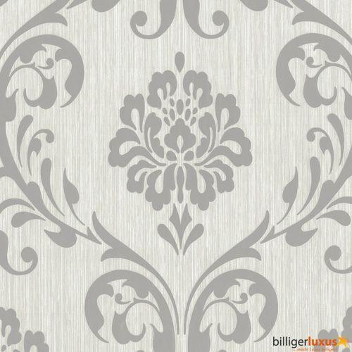 ORNAMENT Vliesapete P+S 13110-50 Barock Grau Silber