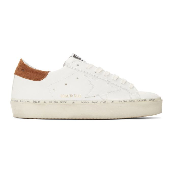 And Brown Hi Star Sneakers In Off White