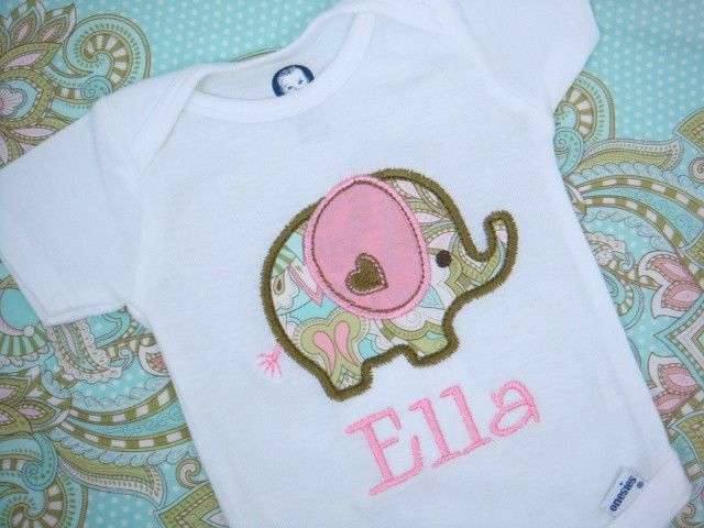 Personalized baby girl onesie elephant by sweettulipsboutique personalized baby girl onesie elephant by sweettulipsboutique negle Gallery