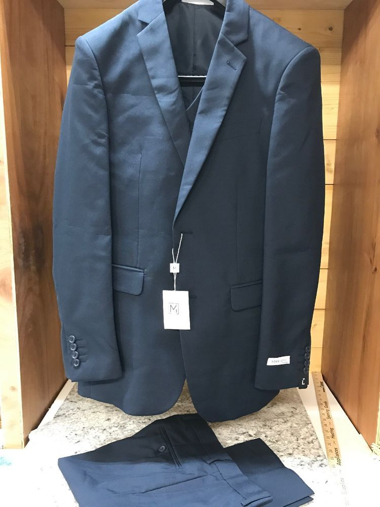 Mdrn Uomo By Braveman Navy Blue Suit Jacket Vest And Pants Size 38l 32w Fashion Clothing Shoes Accessories Mensclothin Navy Blue Suit Jackets Blue Suit