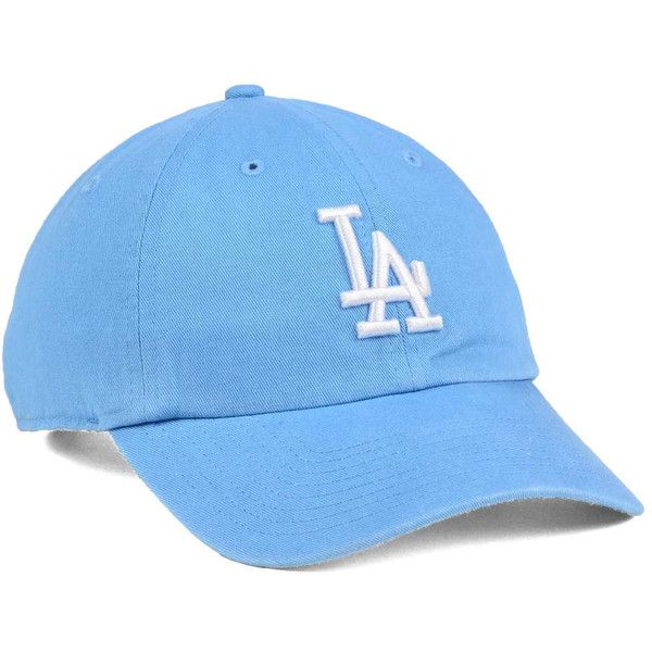 reputable site ac4ad 9143b Los Angeles Dodgers  47 MLB Women s Powder Blue White  47 CLEAN UP Cap ❤  liked on Polyvore featuring accessories, hats, la dodgers hat, dodgers hat,  ...