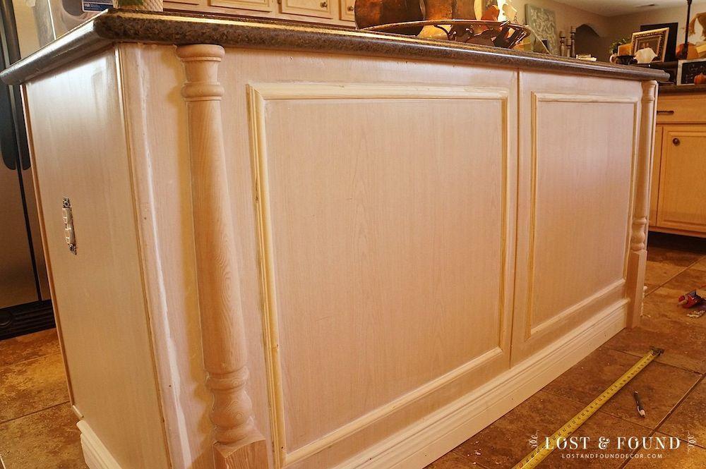 Diy Builder Grade Kitchen Island Upgrade Builder Grade Kitchen Kitchen Island Upgrade Kitchen Cabinet Remodel