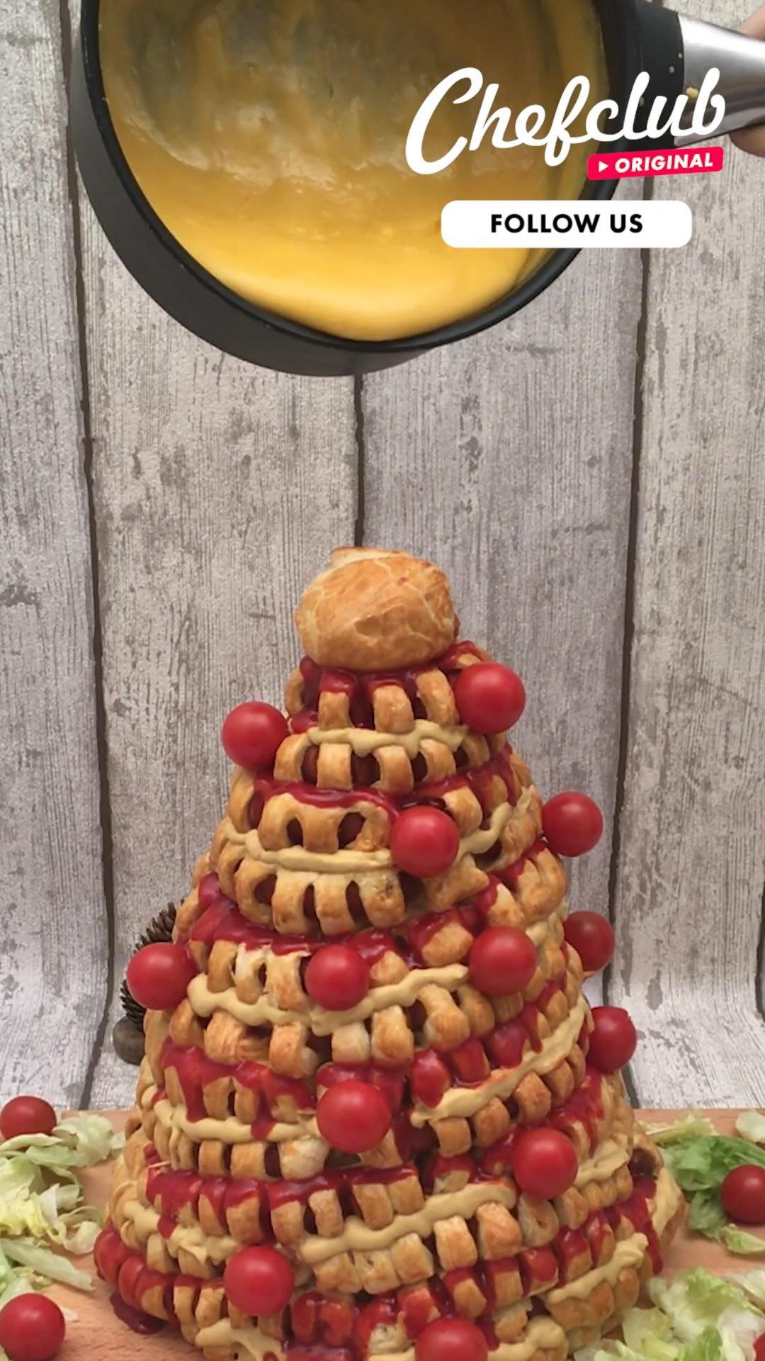 der perfekte snackbaum aus knacki mit ketchup und viiiiel