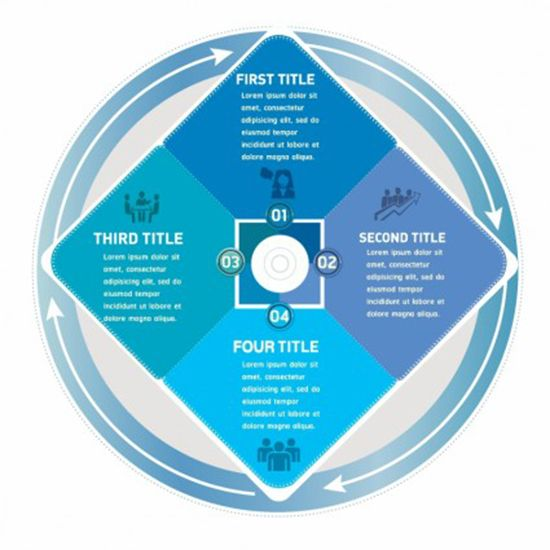 Infographic Four Step Process