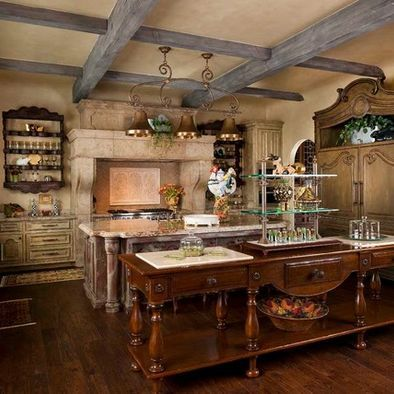 incredible french kitchen design | Incredible french country kitchen | Country chic kitchen ...