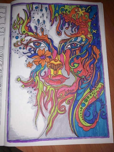 Värityskuvilla mindfullnessia + merenneito
