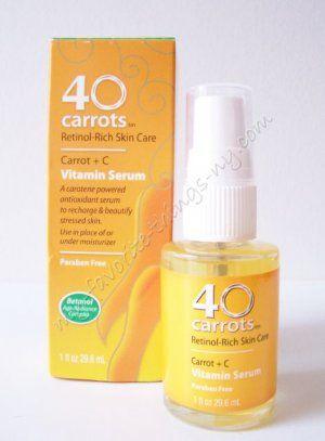 40 carrots retinol rich vitamin serum i use this whole line love