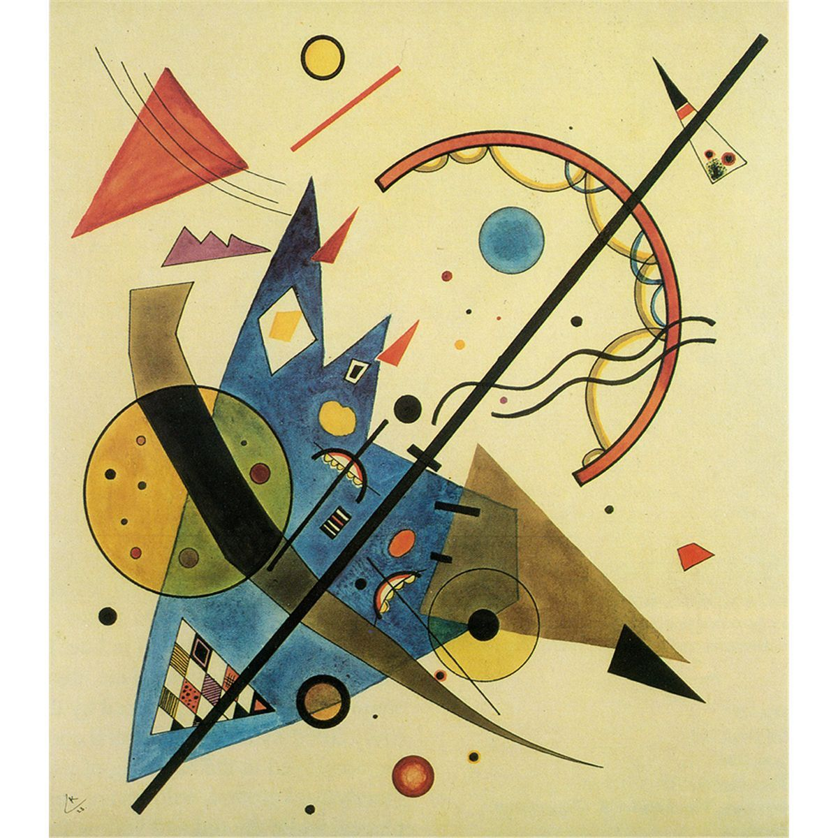 A pintura abstrata do pintor russo Wassily Kandinsky ...