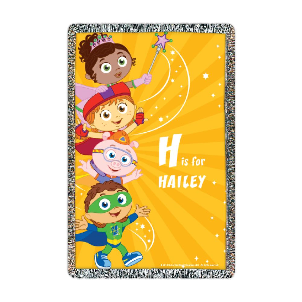 Super Why Super Letters Throw Pbs Kids Personalized
