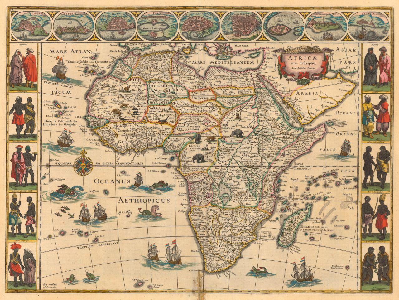diasporicroots u201c 1644 map of Africa Made