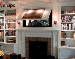 Hidden tv Home Fireplace Pinterest Hide tv TVs and Living