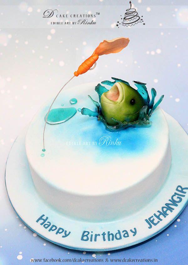 I Love Fishing Cake Adult Birthday Cakes For Women High Tea Themed