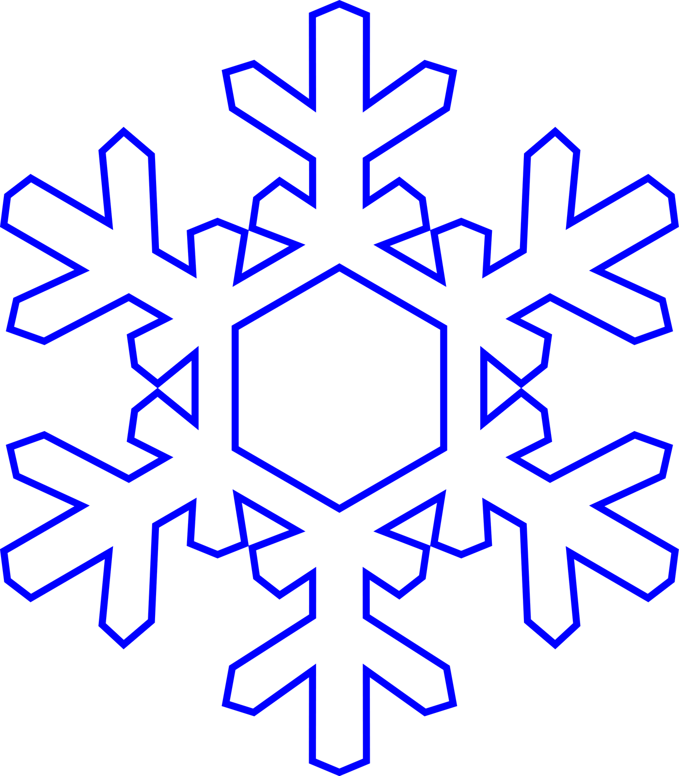 Snowflake outline. Cliparts co christmas recipes
