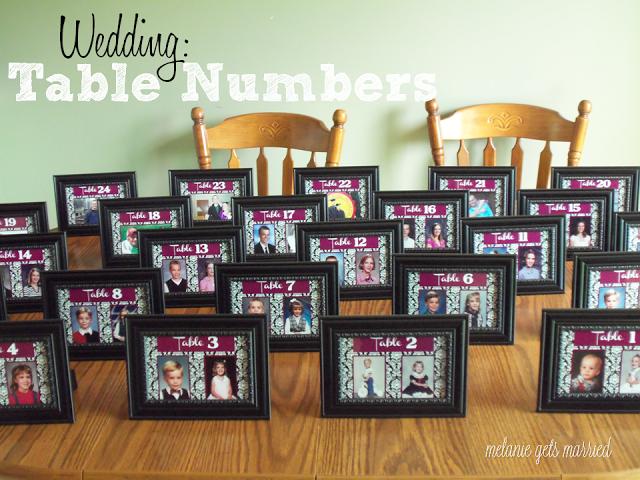 Melanie Gets Married: Wedding Wednesday: Table Numbers