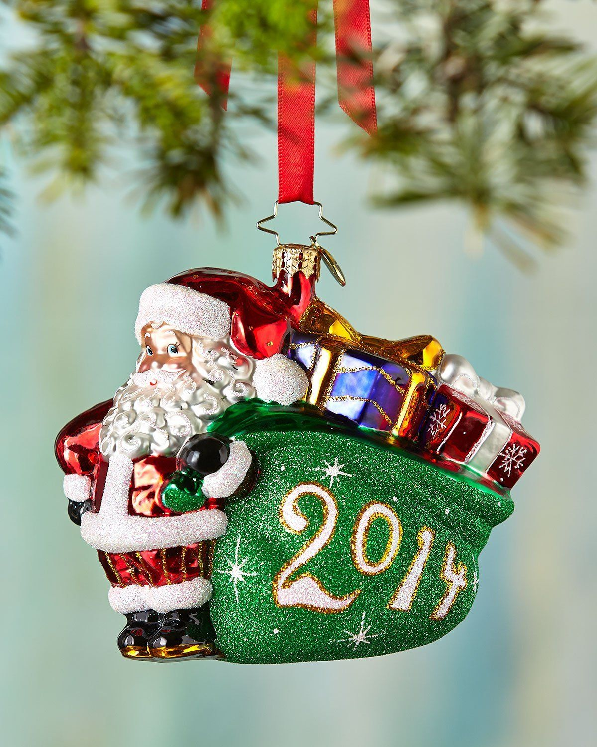 Christopher Radko A Jolly Year 2014 Dated Glass Christmas ...