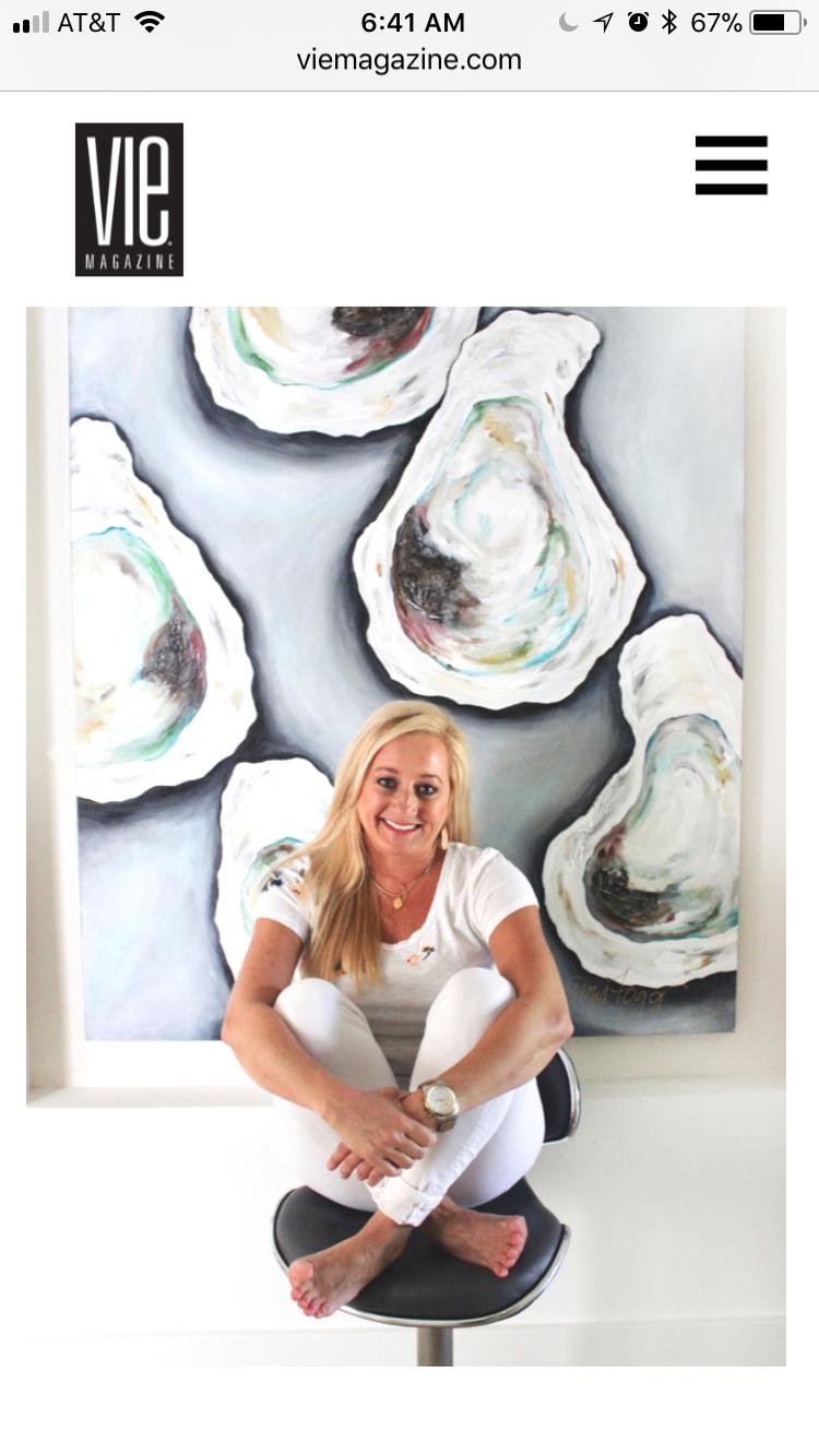 Article one 30A coastal Artist Amy Fogg
