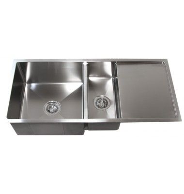 42 Inch Kitchen Sink Free Standing Unit Sale Stainless Steel 15mm Radius Design Undermount Double Bowl With 13 Drain Board 16gauge The Lower Gauge Stronger