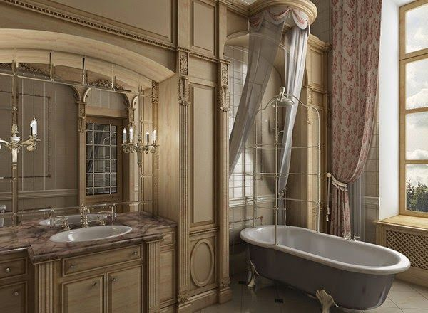 New Trends English Style In Interior For Bathroom 2015