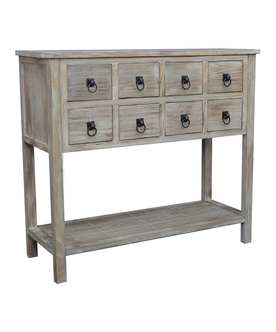 Look at this driftwood eight drawer console table on zulily today look at this driftwood eight drawer console table on zulily today geotapseo Images