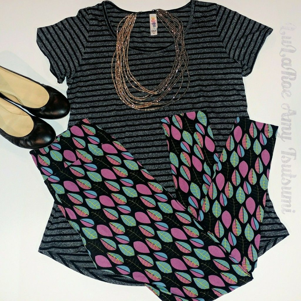 Lularoe Classic Tee And Leggings Outfit Idea Mixing Prints And