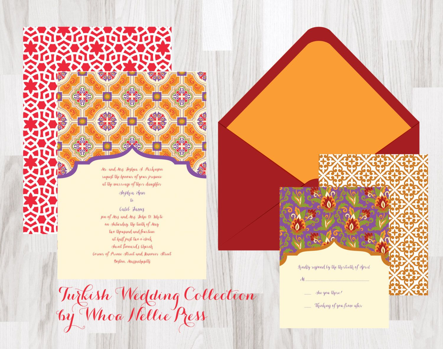 Turkish/Morocco Wedding Invitations-Turkish Invitations - Morocco ...