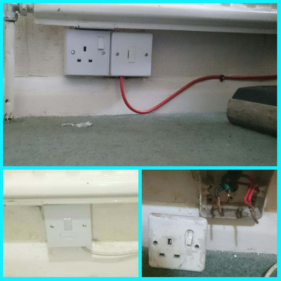 This single socket outlet (SSO) had an external photocell light ...
