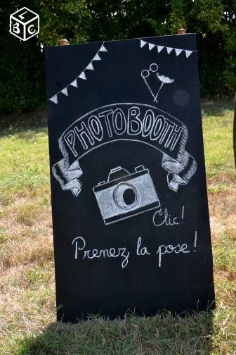 ardoise photo booth mariage ou anniversaire sma31. Black Bedroom Furniture Sets. Home Design Ideas