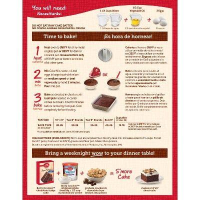 Betty Crocker Super Moist Chocolate Fudge Cake Mix 15 25oz With