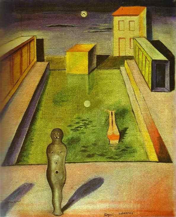 Max Ernst >> Aquis submersus     (öl, Gemälde, Reproduktion, Kopie, Gemälde).