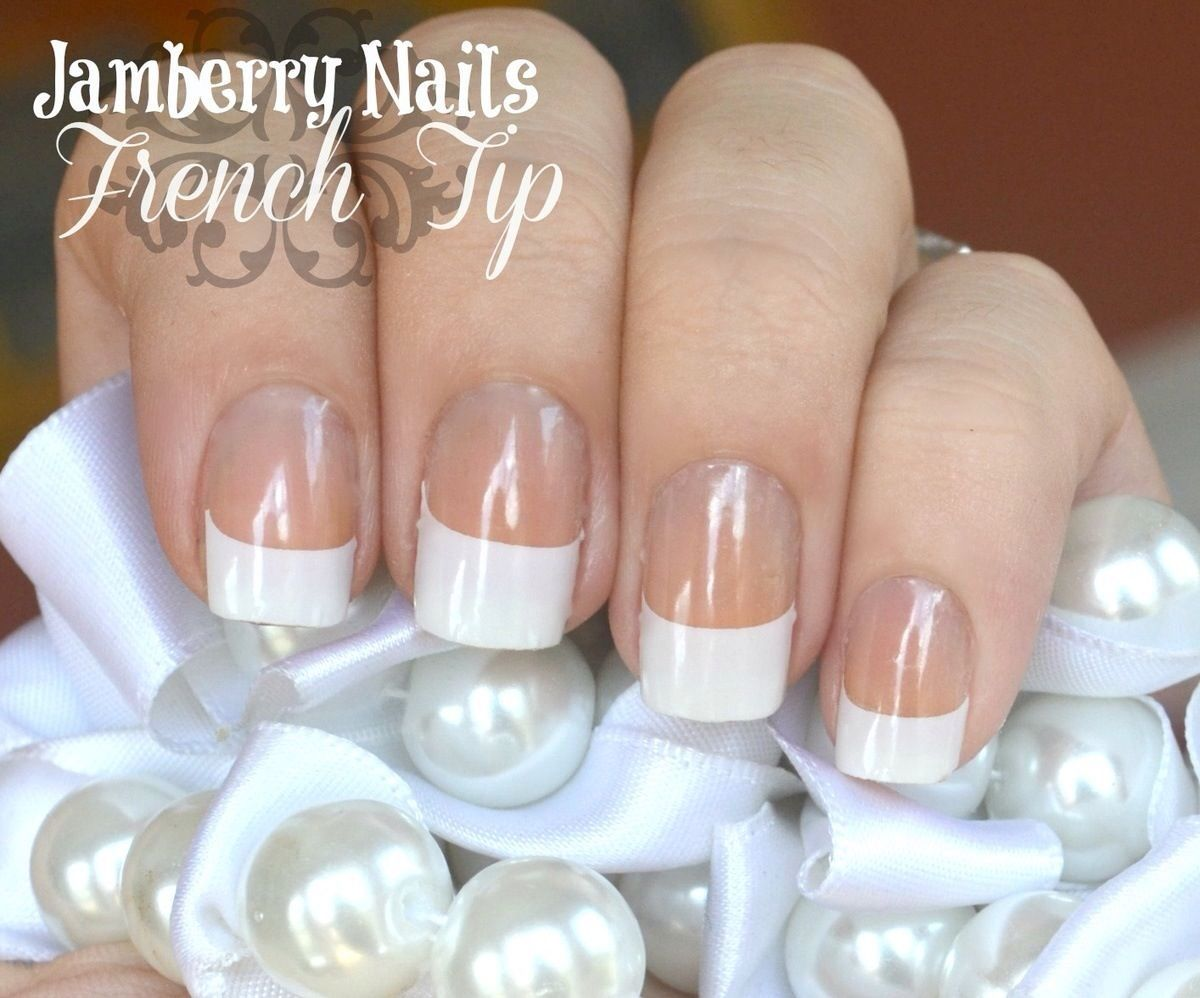 French tips, last forever, no chipping Nail art - Jamberry ...