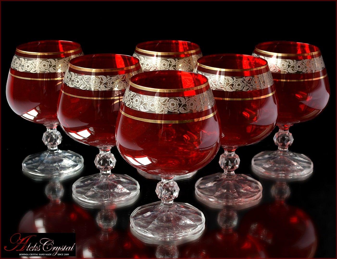 Aleks Crystal Com Cristal De Bohemia Brandy Gafas In 2020 Glass Artwork Bohemia Glass Bohemia Crystal