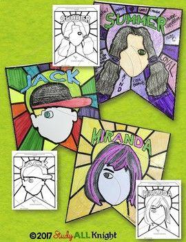 Wonder novel character study, characterization, pennant, make your ...