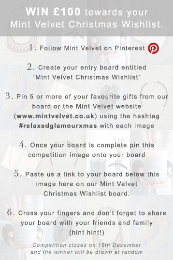 Make your own Mint Velvet Christmas Wishlist and show us to WIN a - Make Your Own Voucher