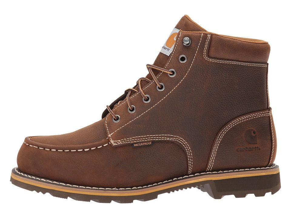2c25c83f8d7 Carhartt 6 Moc Toe Lug Men's Work Boots Dark Bison Oil Tanned ...