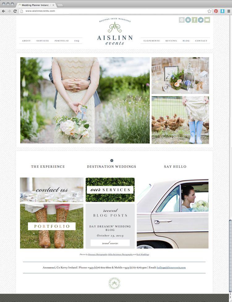 Aislinn Events // Site Design by Grit & Wit