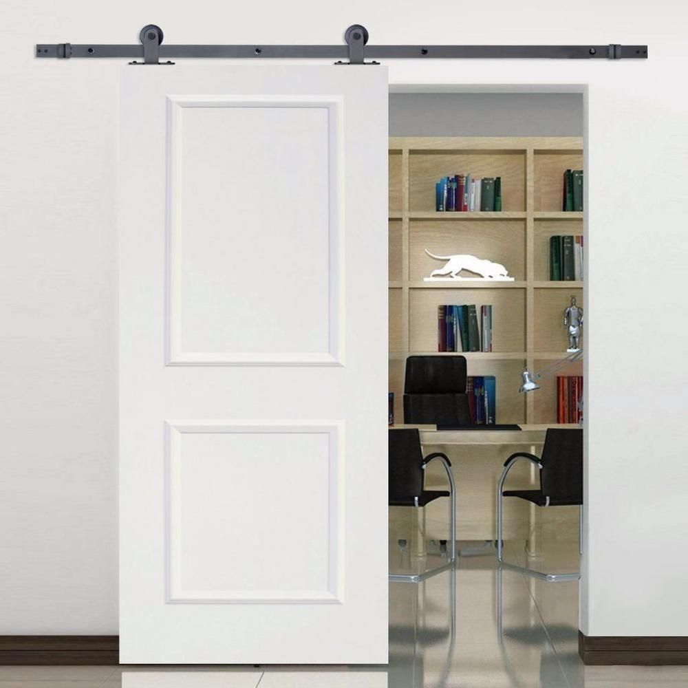 Calhome top mount sliding door track hardware and in white primed mdf raised also rh pinterest