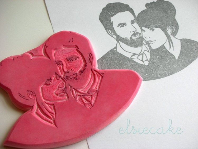 // Custom rubber stamp for invitations and what-not