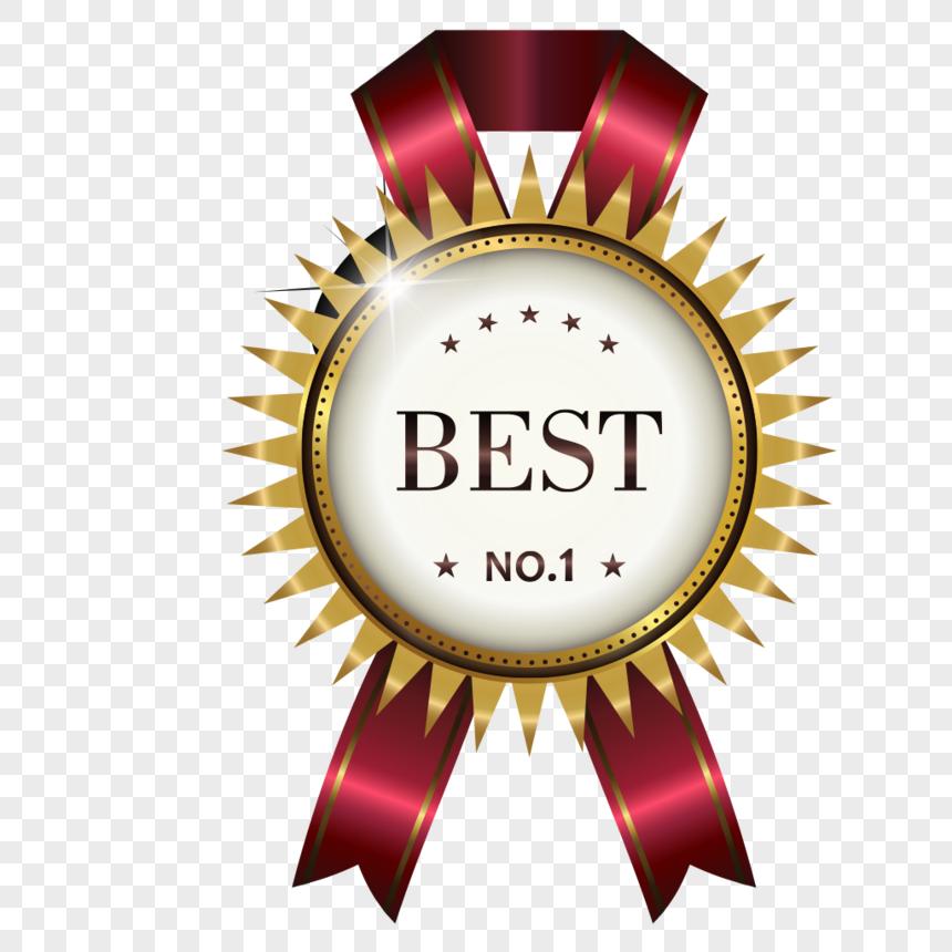 Bahan Label Medali Juara Yang Sangat Baik Desain Banner Grafik Png