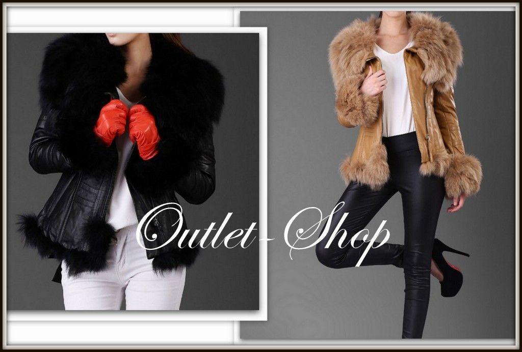 Kurtka Skorzana Ramoneska Futro Z Lisa S 36 4767114310 Oficjalne Archiwum Allegro Fashion Fur Coat Coat