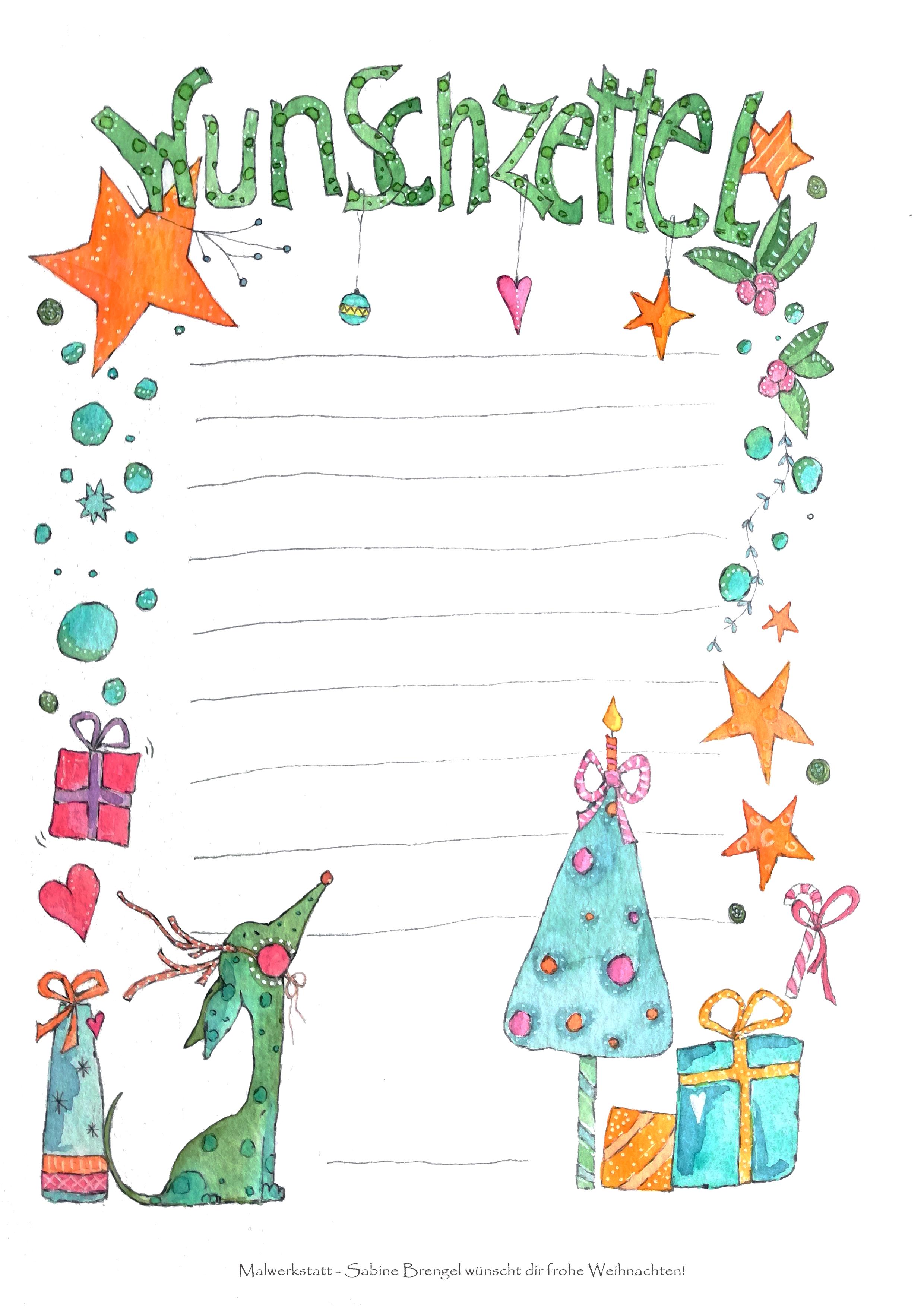 Wunschzettel für Kinder
