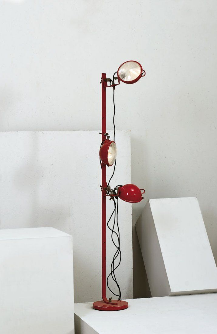 Cesare Leonardi and Franca Stagi; Enameled Metal 'Jeep' Floor Lamp for Lumenform, c1969.