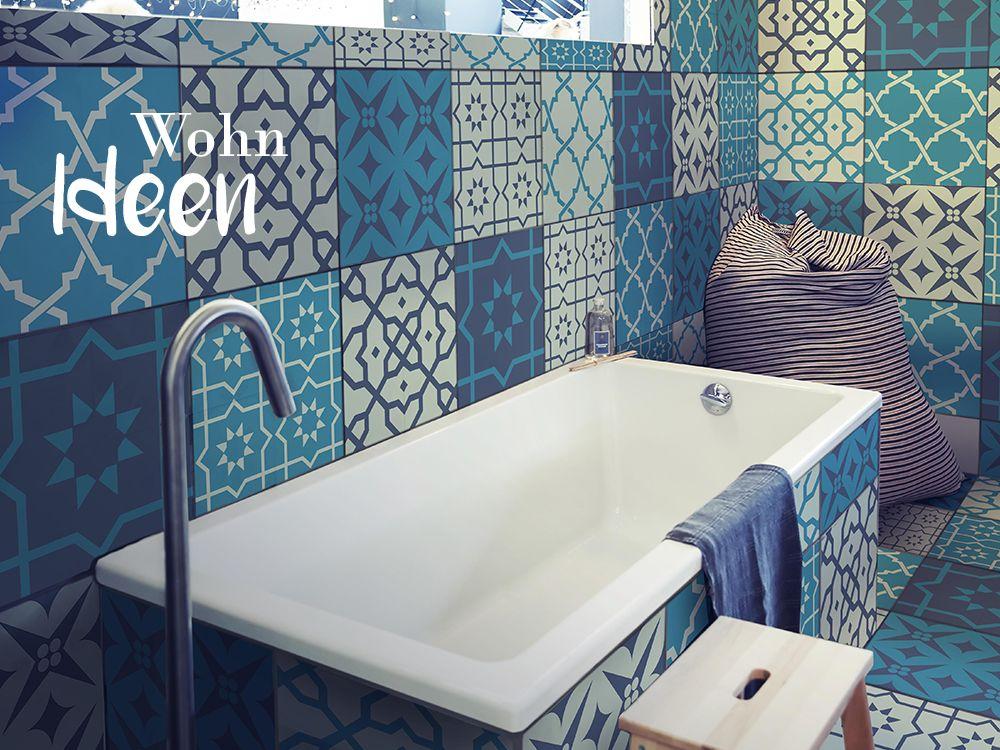 Details zu Folie Fliesen Aufkleber Sticker Bad Küche Dekoration - fliesen tapete küche