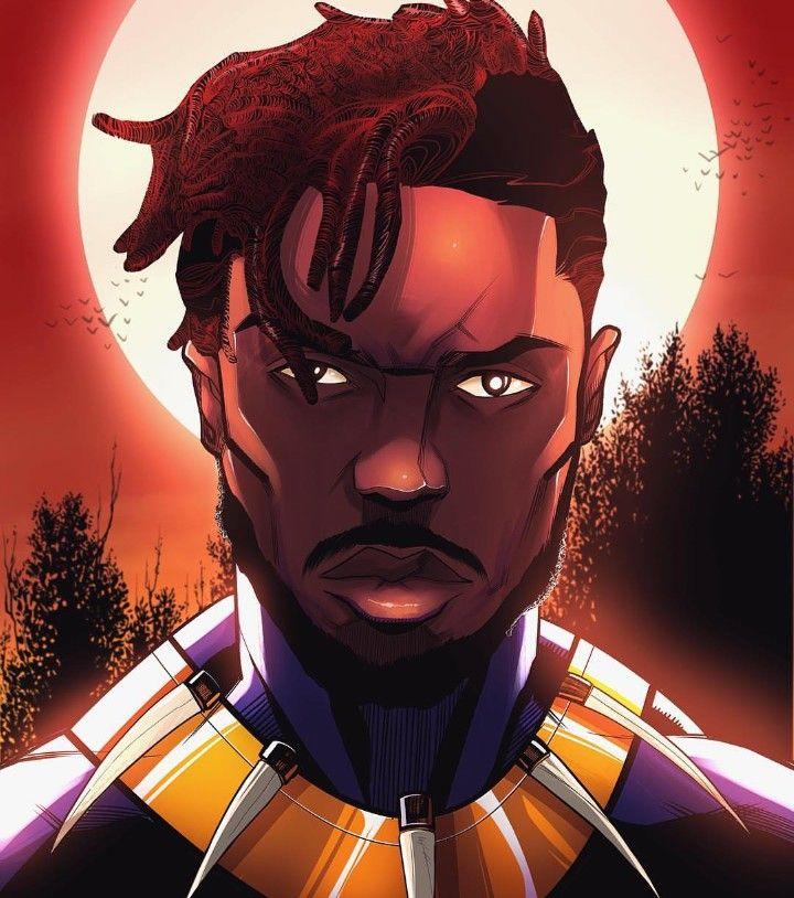 Black Panther Killmonger, T'Challa Black panther art