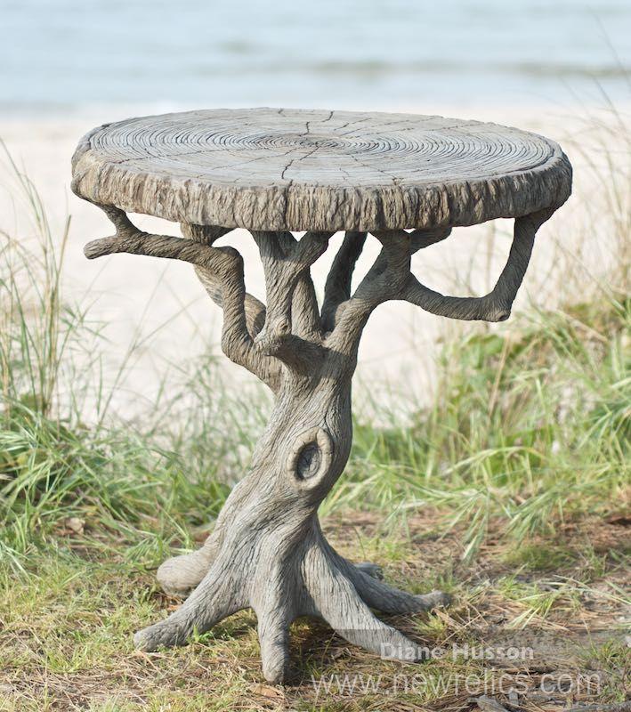 Concrete Faux Bois Outdoor Furniture By Sculptor Diane Husson U2026