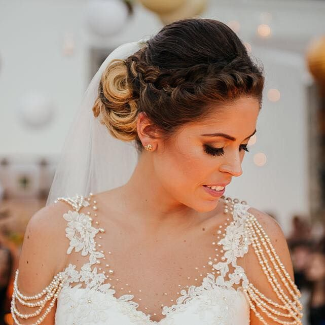 Noiva Priscila. Bride. Wedding. Makeup. Beauty. Hair.
